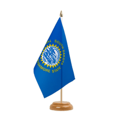 "South Dakota - Table Flag 6x9"", wooden"