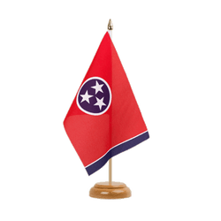 "Tennessee Table Flag 6x9"", wooden"