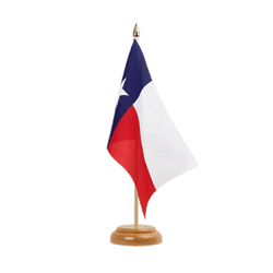 Drapeau de table Texas - 15 x 22 cm, bois
