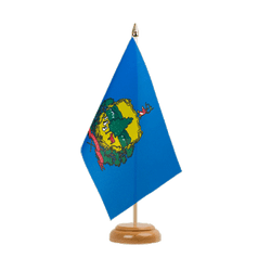"Vermont - Table Flag 6x9"", wooden"