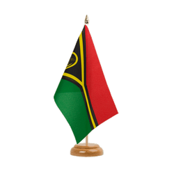 "Vanuatu Table Flag 6x9"", wooden"