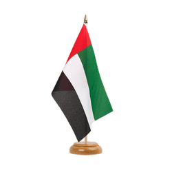 "United Arab Emirates Table Flag 6x9"", wooden"