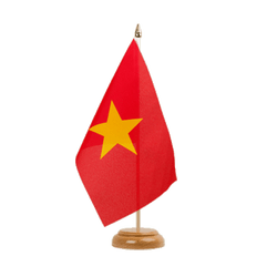 "Vietnam Table Flag 6x9"", wooden"