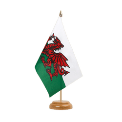"Wales Table Flag 6x9"", wooden"