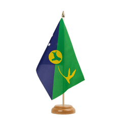 "Christmas Island Table Flag 6x9"", wooden"