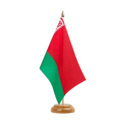 "Belarus Table Flag 6x9"", wooden"