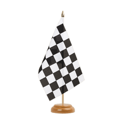 "Checkered Table Flag 6x9"", wooden"
