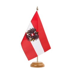 "Austria eagle Table Flag 6x9"", wooden"