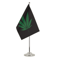Drapeau de table prestige Cannabis Reggae 15 x 22 cm