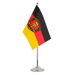 GDR Satin Table Flag 6x9""