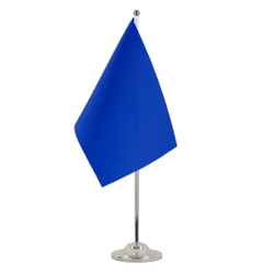 Blue Satin Table Flag 6x9""