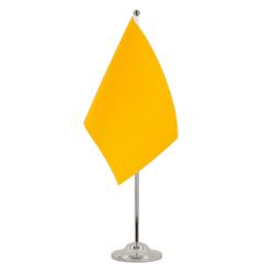 Yellow - Satin Table Flag 6x9""