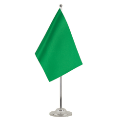 Green Satin Table Flag 6x9""