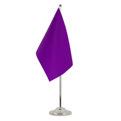 Purple Satin Table Flag 6x9""