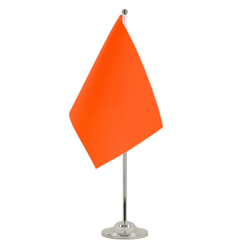 Drapeau de table prestige Orange - 15 x 22 cm