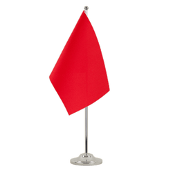 Red  Satin Table Flag 6x9""