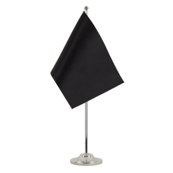 Black Satin Table Flag 6x9""