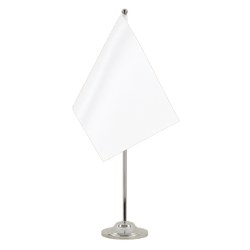 White - Satin Table Flag 6x9""