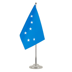 Starry Plough Satin Table Flag 6x9""