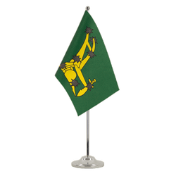 Drapeau de table prestige Starry Plough vert 1916-1934 15 x 22 cm