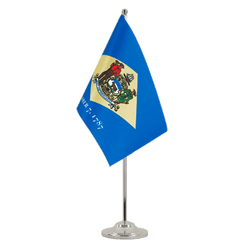 Delaware - Satin Table Flag 6x9""