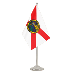 Florida - Satin Table Flag 6x9""