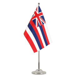 Drapeau de table prestige Hawaii - 15 x 22 cm