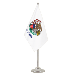 Illinois Satin Table Flag 6x9""
