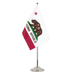 Drapeau de table prestige Californie 15 x 22 cm
