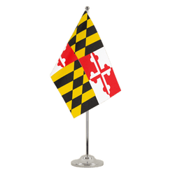 Maryland Satin Table Flag 6x9""