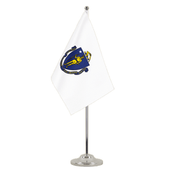 Massachusetts - Satin Table Flag 6x9""