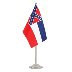 Mississippi - Satin Table Flag 6x9""
