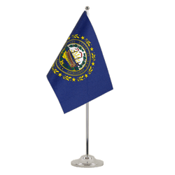 New Hampshire - Satin Table Flag 6x9""