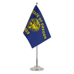 Drapeau de table prestige Oregon - 15 x 22 cm