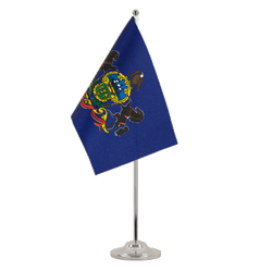 Pennsylvania - Satin Table Flag 6x9""