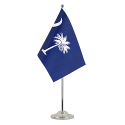 South Carolina - Satin Table Flag 6x9""