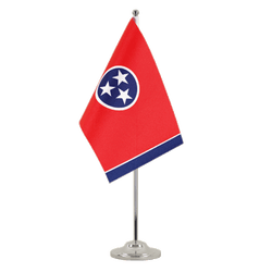 Tennessee Satin Table Flag 6x9""