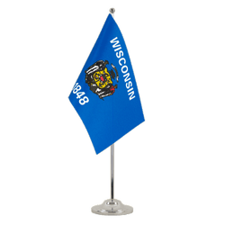 Drapeau de table prestige Wisconsin - 15 x 22 cm