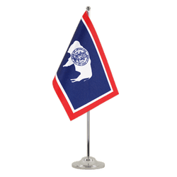 Wyoming - Satin Table Flag 6x9""