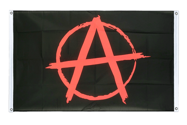 Anarchy Banner Flag 3x5 ft, landscape