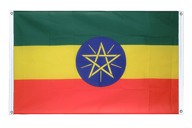 Ethiopia with star Banner Flag 3x5 ft, landscape
