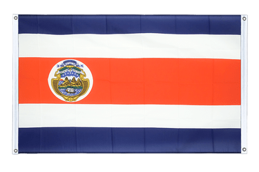 Costa Rica Banner Flag 3x5 ft, landscape