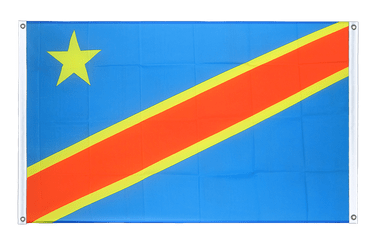 Democratic Republic of the Congo - Banner Flag 3x5 ft, landscape