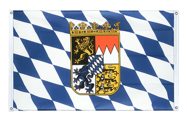 Bavaria with crest Banner Flag 3x5 ft, landscape