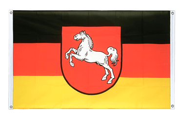 Lower Saxony - Banner Flag 3x5 ft, landscape