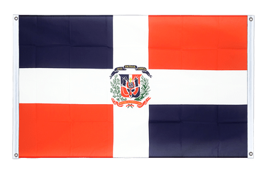 Dominican Republic Banner Flag 3x5 ft, landscape