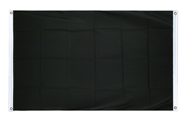 Black Banner Flag 3x5 ft, landscape