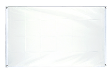 White - Banner Flag 3x5 ft, landscape