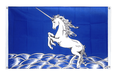 Unicorn blue Banner Flag 3x5 ft, landscape
