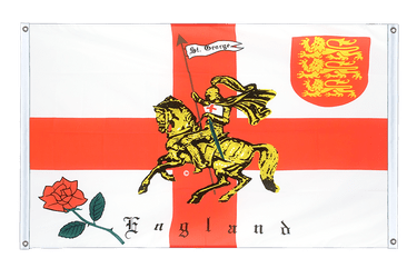 England with knight Banner Flag 3x5 ft, landscape